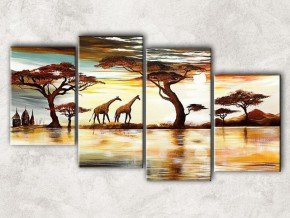 жирафы на озере