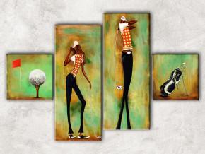 гольф с фоном